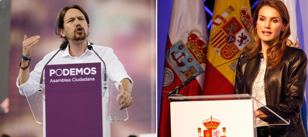 Pablo Iglesias y doña Letizia